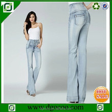 High quality high waist women new style bootcut and wide-leg denim pants fancy colorful jeans wholesale