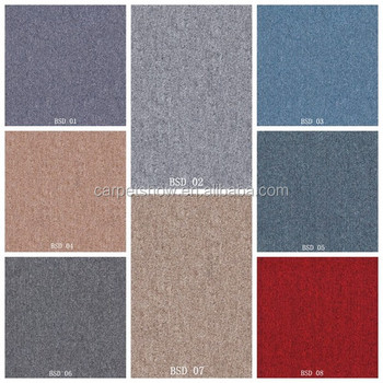 Plain Color Red Grey Brown Green Blue Decorative Carpet Tiles