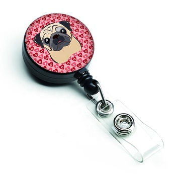 Customized Metal Retractable Badge Reel/Carabiner ID Card Retractable Badge Holder