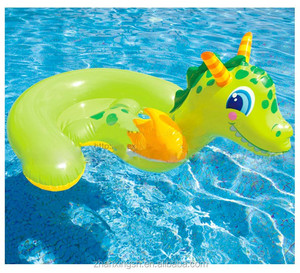 Newest Special Idea Sea Horse Design PVC Inflatable Water Animal Toys For Kids Pool Float