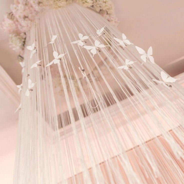 New design white butterfly wedding backdrop elegant wedding stage backdrop