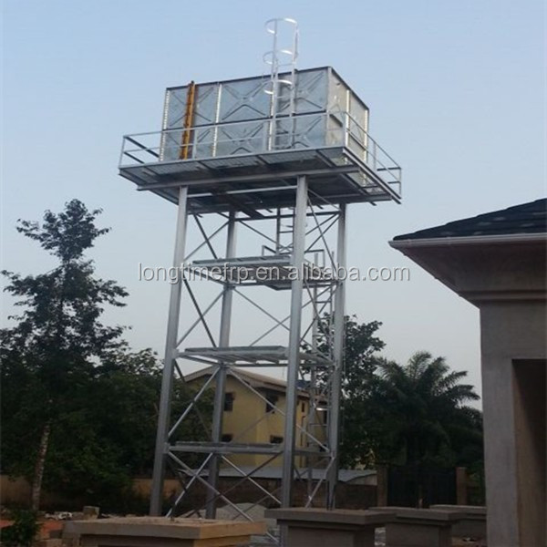 Elevated Water Storage Tank Steel Frame Water Tower