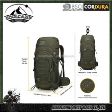 50 Liter Internal Frame Military Hiking Backpack Tactical Backpack Molle Bag with Rain Cover for Hunting Shooting Camping