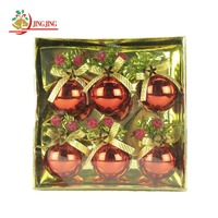 China Supplier Hot Sale Tree Hanger, with Red Fruit and Bowknot, Decorative Christmas Plastic Ball