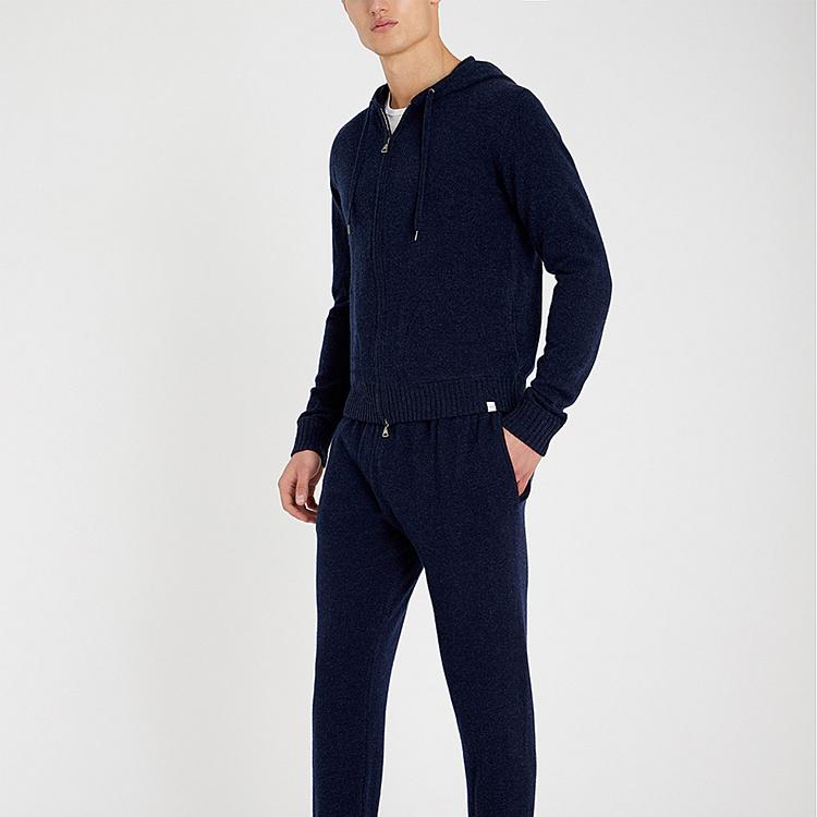 Slip Pockets Hoody Cashmere Cardigan Men Custom