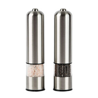 2 in 1 stainless steel ceramic electronic pepper mill gravity salt grinder