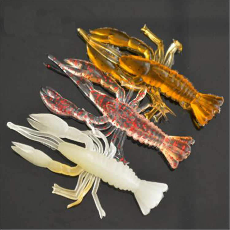 5.5cm 1.5g Artificial Silicone Worm China Swimbait Fake Soft Shrimp Lure For Fishing