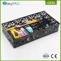 EasyPAG Desk Carved Hollow Flower Pattern Design Triple Desk Organizer