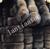 SAGA FOX FUR REAL FUR PARKA FIRE GOLD LADIES JACKET NEW WOMENS QUILTED FUR With Button and ZIP
