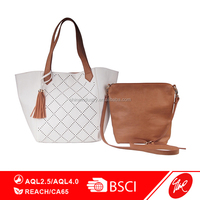 New Design Lattice Laser Cut PU Women's Tote Bag