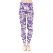 Modern design durable breathable gothic style seamless tight girls leggings