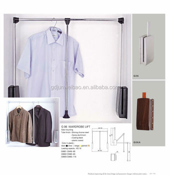 Pull Down Clothes Hanging Rail