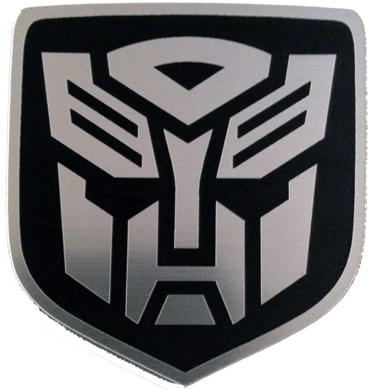Dodge Caliber & Caliber Srt-4 Rear Badge Emblem Transformers Autobot Black
