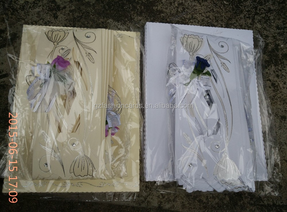 High Recommand Royal Luxury Purple Scroll Wedding Invitations
