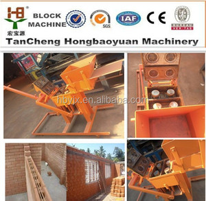 Hongbaoyuan QMR2-40 paver tile forming machine lego ecological brick making machine