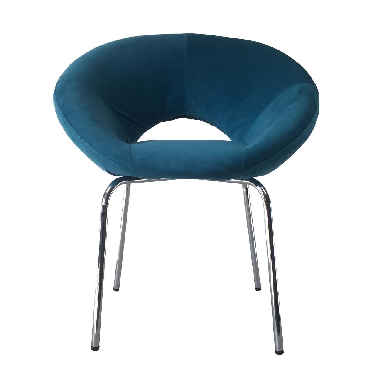Fancy Red Shaped Pillow Soft Sponge Modern Style Cafe Chair Fabric Metal Chromed Best Design Children Use Breakfast Egg