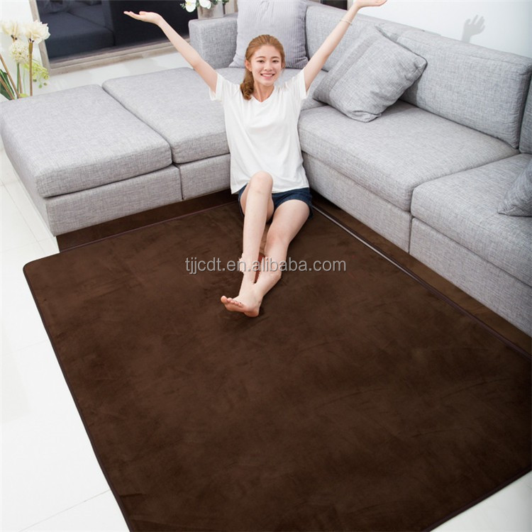 Super soft slow rebound memory foam flannel carpets