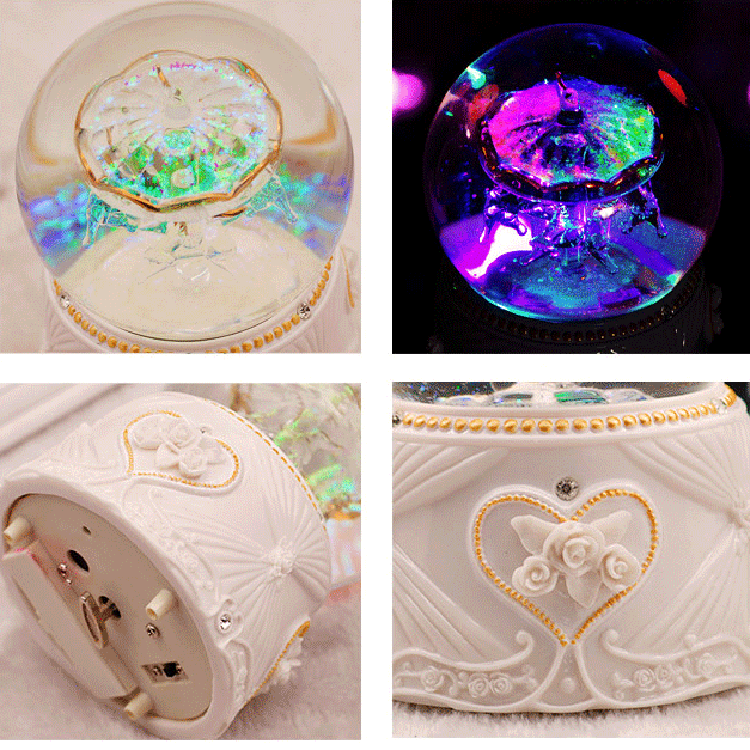 Romantic carousel crystal ball music box crystal gifts