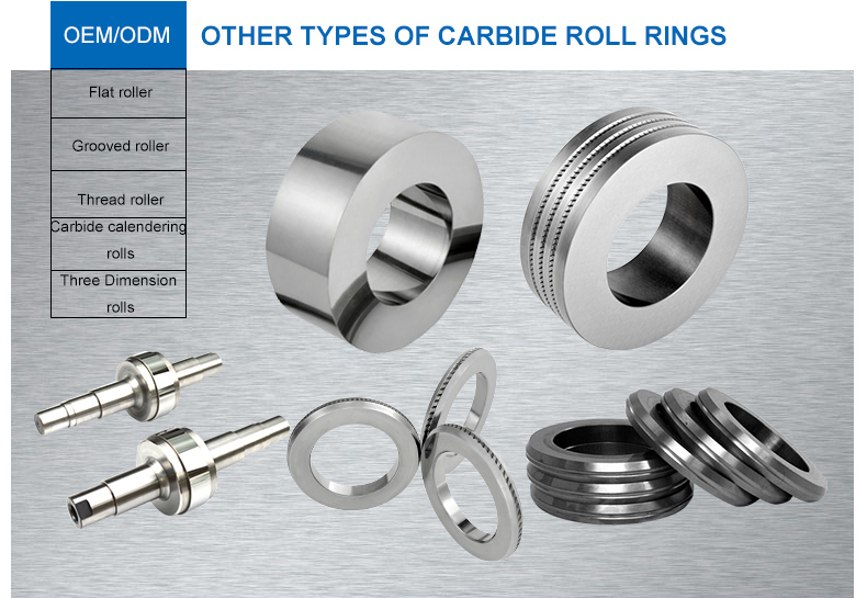 Grounded grooved and ribbed wear resistance milling rods tungsten carbide roll rings