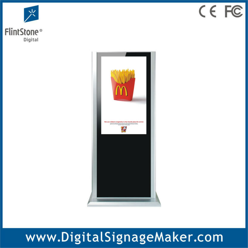 42 inch floor standing digital signage,vertical display tv