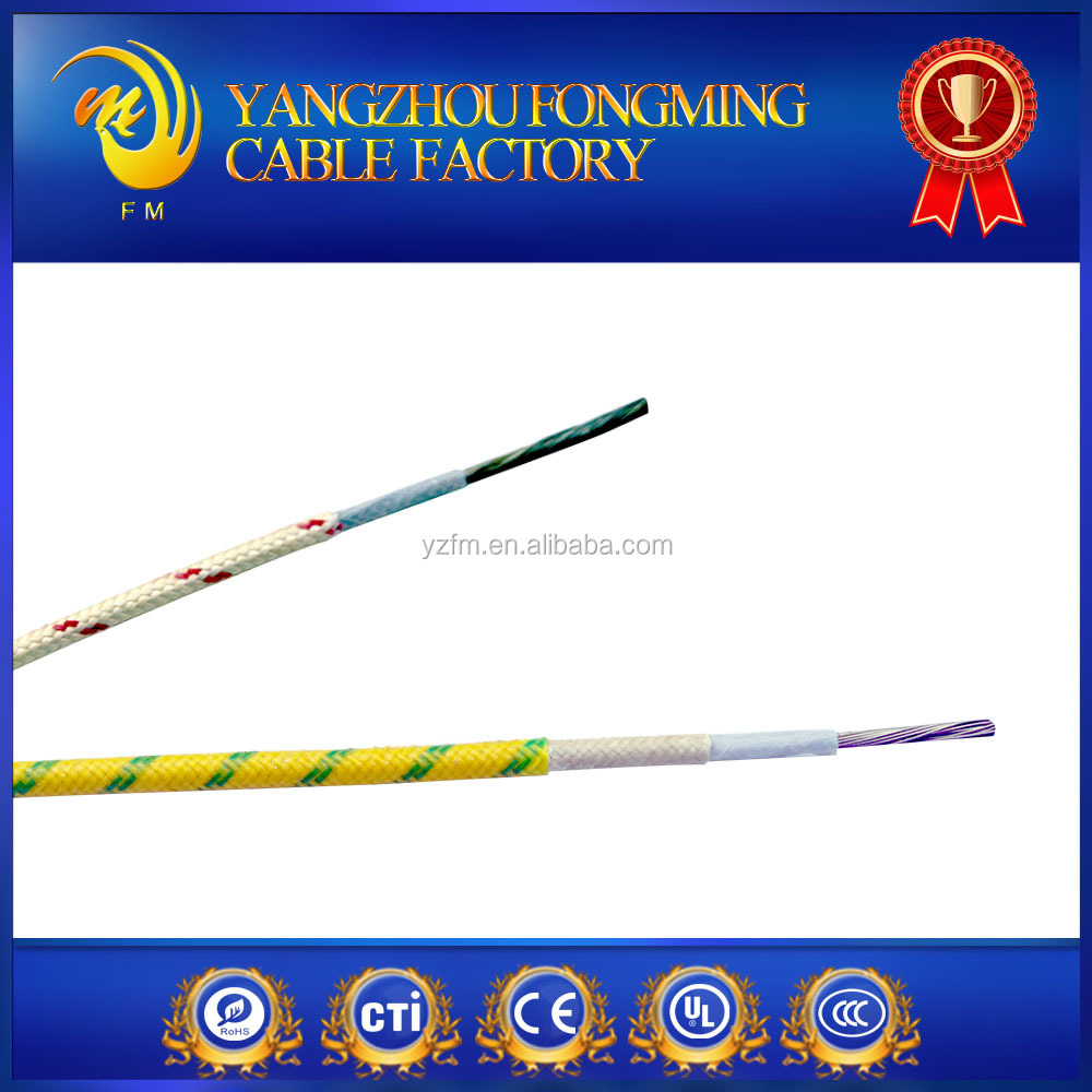 UL5256 10 gauge high temperature 250C 482F TGGT lead wire teflon and fiberglass insulation wire