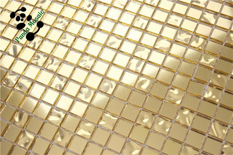 Smg13 mosaico de oro del azulejo azulejos ba o impermeable del papel pintado de lujo para ba os - Azulejos mosaico bano ...