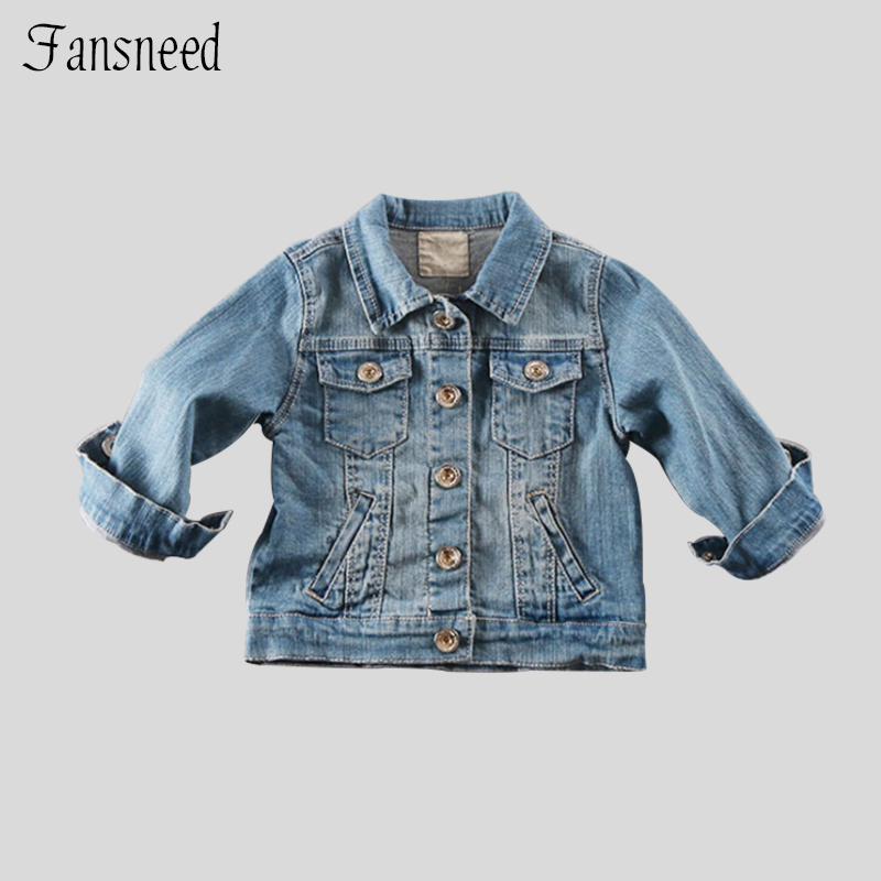 Kids 2016 years of spring new baby soft denim jacket the cardigan jacket children boys and
