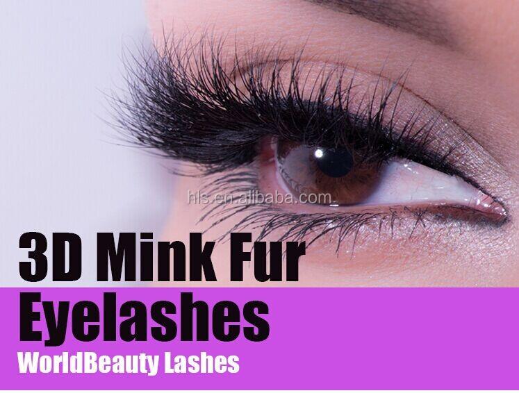 2016 wholesale fashion lunxury 3D volume mink eyelash,3D mink fur ...