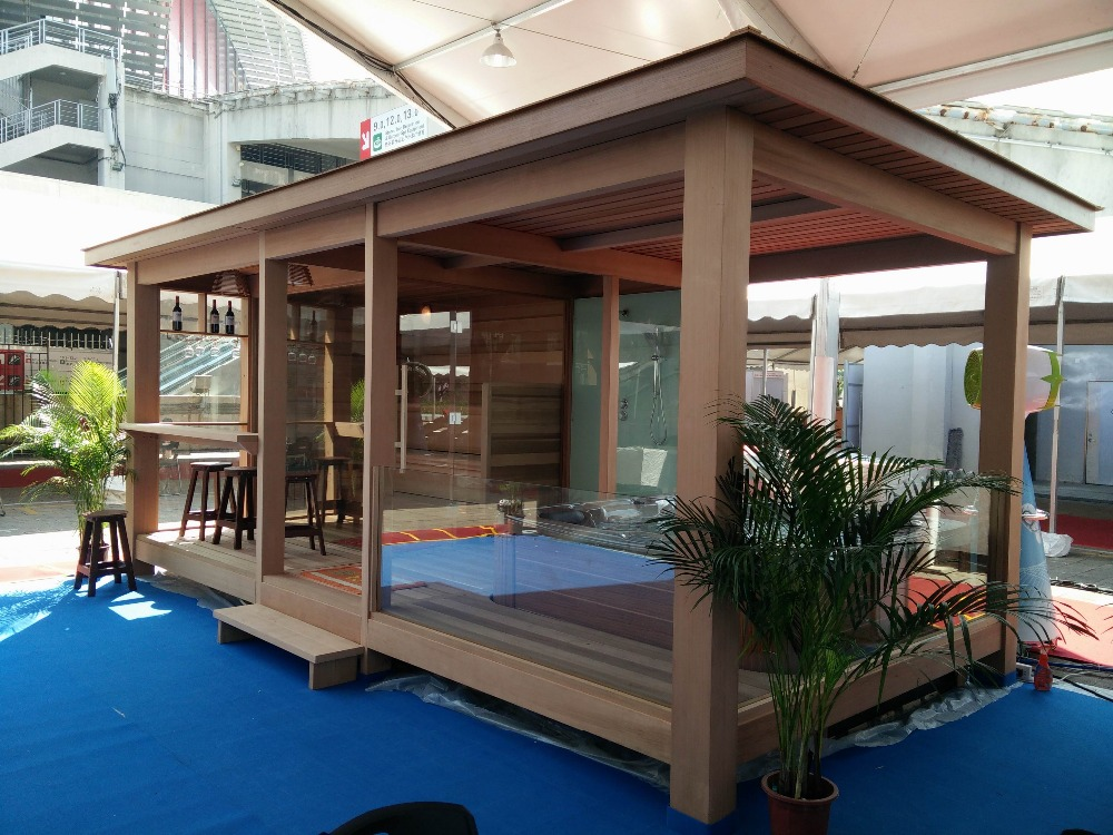 pr fabriqu e maison en bois gazebo en plein air sauna salle de douche vapeur fs lt06 buy. Black Bedroom Furniture Sets. Home Design Ideas