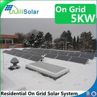 2016 High Technology Competitive Price Solar Energy 5kw Solar Panel System
