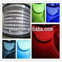 Dream color 18-20lm CE RoHS IP67 110 volt waterproof rainbow color led strip 5050 acrylic to make letters