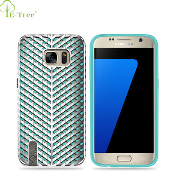 2016 New Trending Product E-tree Logo TPU +PC Case For Samsung Galaxy S7, Cell Phone Case Back Cover For Samsung Galaxy S7