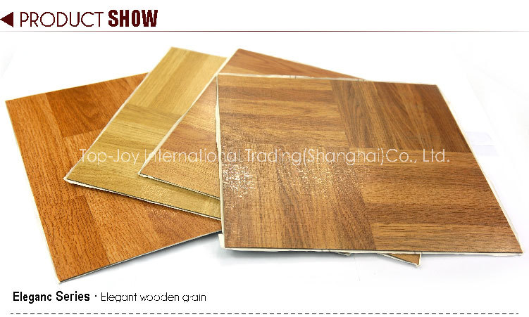 wood texture plastic plank selfstick vinyl floor tiles