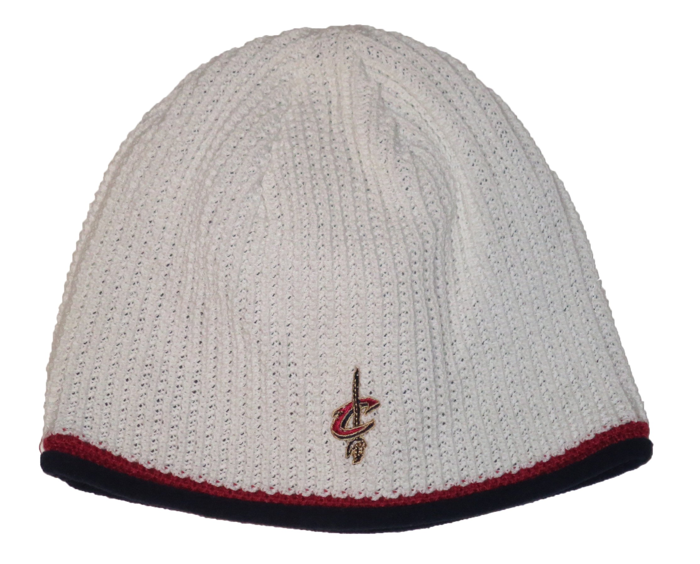 a4fe1170c9a Get Quotations · Cleveland Cavaliers NBA White Waffle Knit Beanie Hat