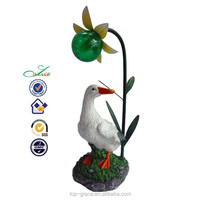 new beautiful design solar light resin motion sensor duck