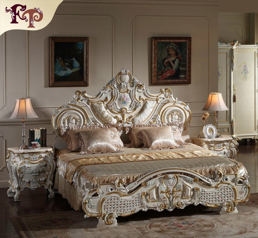 Antique Hand Carved Bed  European Bedroom Furniture   Buy Antique Hand  Carved Bed,French Classical Furniture Bed,Luxury Furniture Italy Design Bed  Product ...