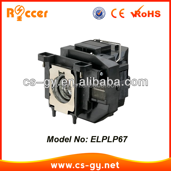 ELPLP67 / V13H010L67 Replacement Lamp with Housing for Epson Projectors EB-X14/ W02/ X02/S12/X11/W12