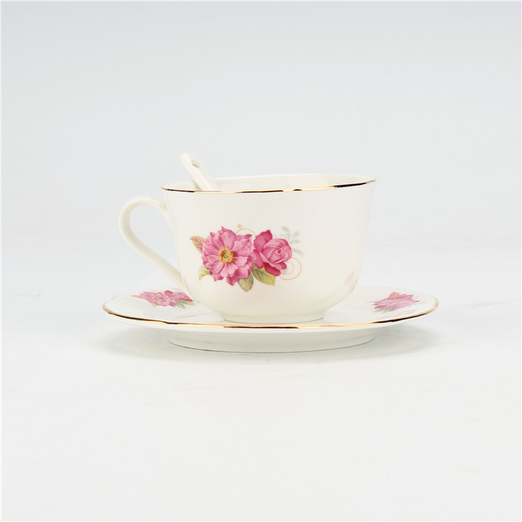 Cheap price royal wholesale coloful turkish ceramic cup with saucer for wedding