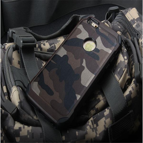 Armadura Camo Camuflagem Padrão Shell 2 em 1 Combo Caso Capa Para o iphone 6 1785c638dca