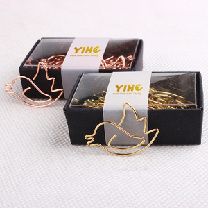 Gold / Rose gold bird shape creative paper clip