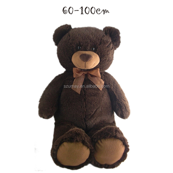New Arrived 100 Cm Big Brown Bear Plush Toy Soft Feeling Valentine S