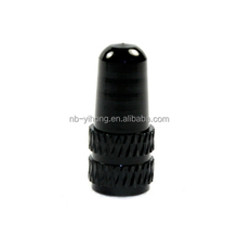 Black Presta Aluminum Alloy Bike Tire Valve Caps