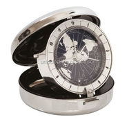 metal clamshell alarm clock for travelling