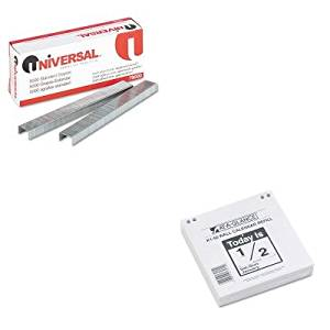 KITAAGK150UNV79000 - Value Kit - At-a-Glance Recycled amp;quot; Today Isamp;quot; Wall Calendar Refill (AAGK150) and Universal Standard Chisel Point 210 Strip Count Staples (UNV79000)