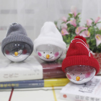 Sedex Factory wholesale Decorations Snowmen Transparent Christmas ball