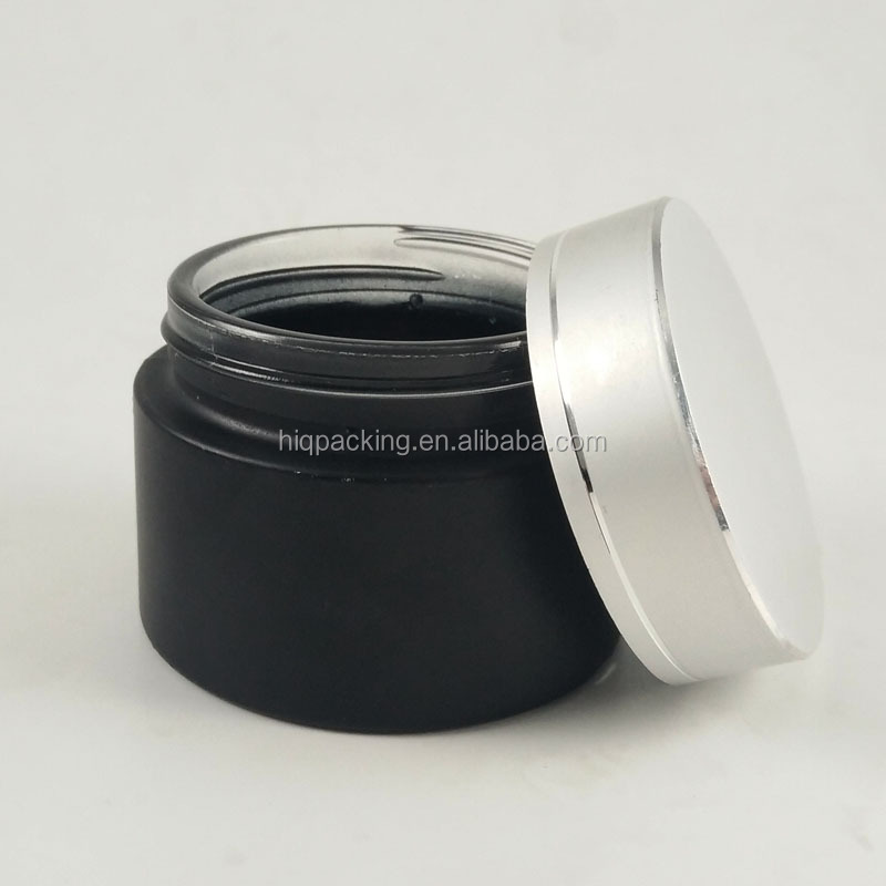empty black blue skin body eye cream container glass 100g 30g 50g jar with box