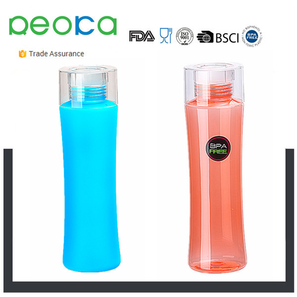 Sports Water Bottle, 25oz - Eco <strong>Plastic</strong> - with Flip Top Lid - BPA Free - Best for Gym, Cycling, Camping, Running