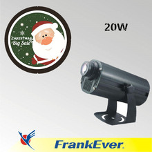 FRANKEVER 20W led gobo logo projector four image rotating around Christmas projector light