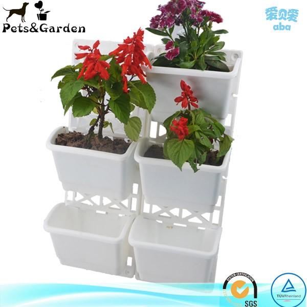 Medio ambiente de pl stico combinado macetas y jardineras - Macetas en la pared ...