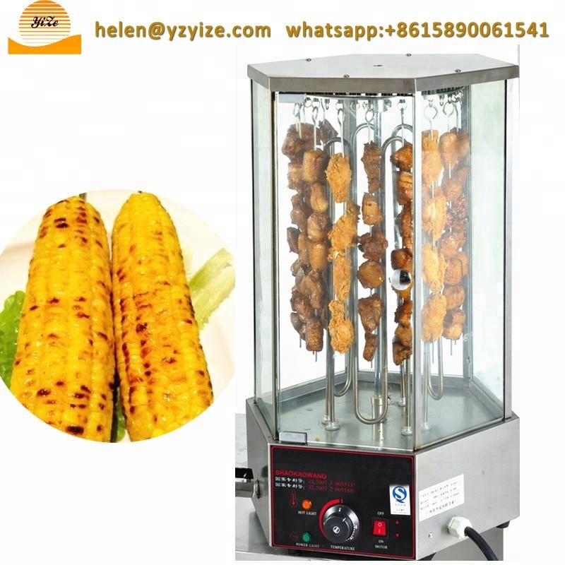 Professional Electric Rotary Corn Roaster Chicken Wing Grill Meat Roasting Machine
